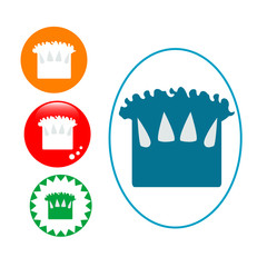 Chef Hat Icon set Internet Button Original Vector