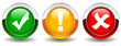 Vector security web buttons