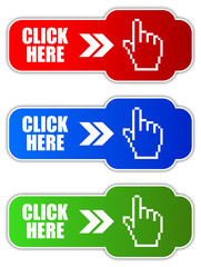 Vector click here buttons