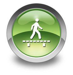 "Green Glossy Pictogram ""Walk On Boardwalk"""