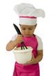 Cuisine - enfant préparant un gâteau