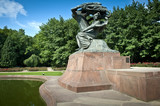 Frederick Chopin monument in summer poster