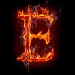Fire font. Letter E.