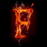 Fire font. Letter F.