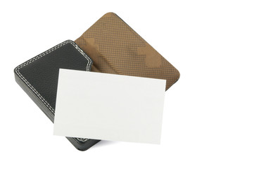 White blank namecard on card holder