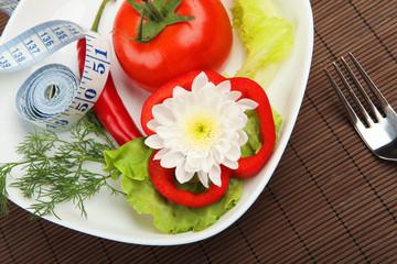 Breakfast of fresh vegetables