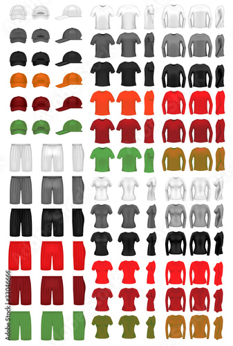 Vector clothing template mega collection