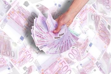 Geldfächer - Frauenhand - Geldregen