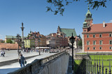 Fototapety Panoramic view of Royal castle in Warsaw