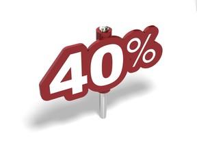 Soldes Dix pourcent, label 10 percent sale