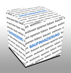 3D Wuerfel BAUFINANZIERUNG