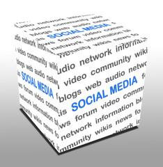 3D Wuerfel SOCIAL MEDIA