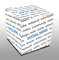 3D Wuerfel SOCIAL NEWS