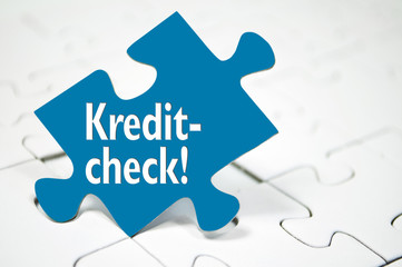 Puzzle mit Kreditcheck