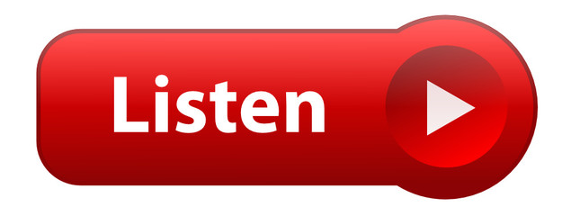 """LISTEN"" Web Button (play music live audio media player red)"