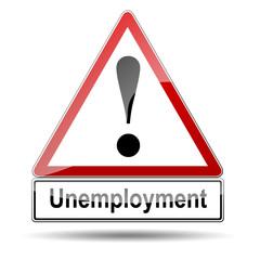 Señal peligro Unemployment