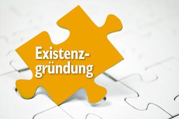 Puzzle mit Existenzgründung