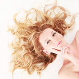 Fototapety schöne blonde Haare