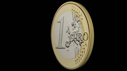 1 Euro dreht sich