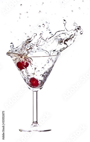 Red Cherry cocktail splash