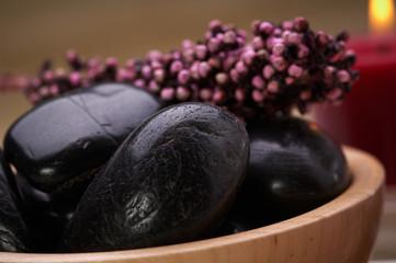 black hot stone