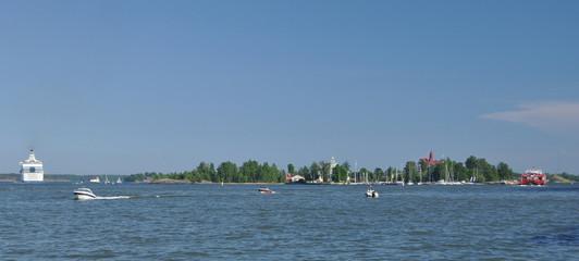 Inselpanorama vor Helsinki