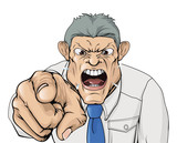 Bullying boss shouting and pointing poster