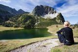 female Hiker at Rubihorn