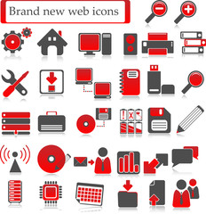 Web icons Rot