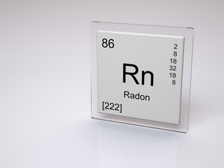 Radon - symbol Rn - chemical element of the periodic table