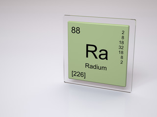 Radium - symbol Ra - chemical element of the periodic table