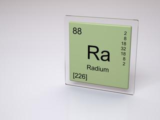 Radium - symbol Ra - chemical element of the periodic table