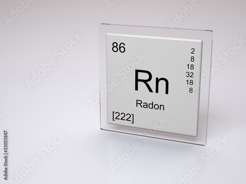 Radon Symbol Rn Chemical Element Of The Periodic Table Buy