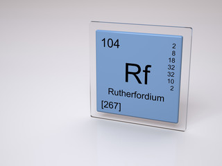 Rutherfordium - Rf - chemical element of the periodic table