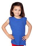 Brunette little girl