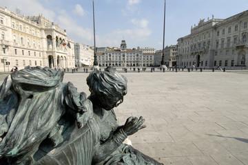 trieste, piazza unitaˆ d'italia