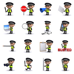 3d Policeman collection