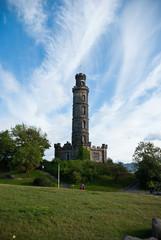 Reportage di Edimburgo, Calton Hill, monumento di Nelson