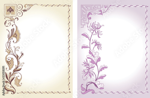 floral decorative color backgrounds