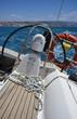 Italy, Sicily, Mediterranean sea, cruising on a sailing boat