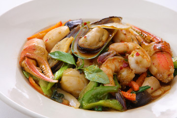 Spicy Seafood Basil