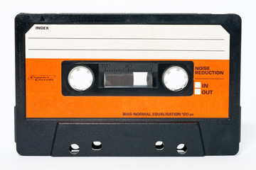 Cassette tape isolated on a white background