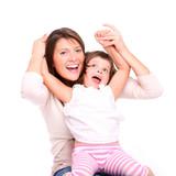 Joyful motherhood poster