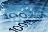 Fototapete Fahne - Hintergrund - Geld / Kreditkarte