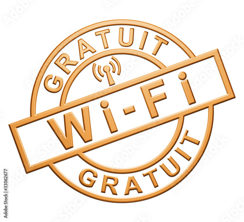 """Wi-Fi Gratuit"" (orange)"