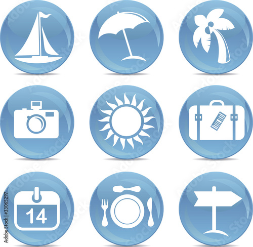 shiny travel icons