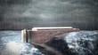 Noah's Ark in the storm
