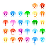 letter marks logo elements set
