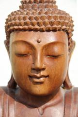 buddha gesicht von vorn close-up