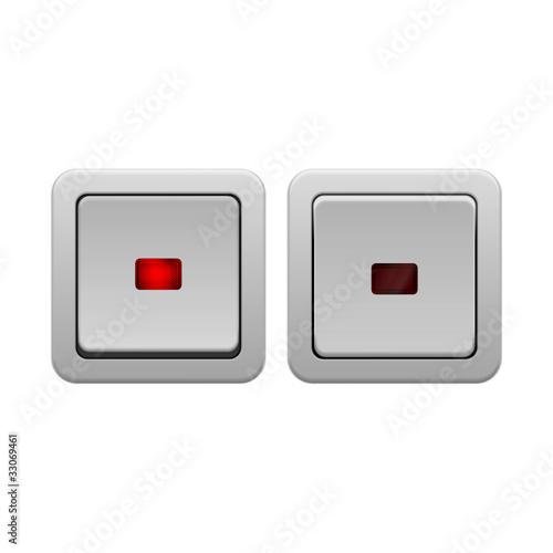 lichtschalter v2 mit ohne licht i stockfotos und. Black Bedroom Furniture Sets. Home Design Ideas